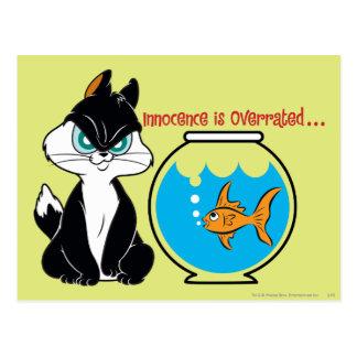 Carte Postale Atermoyez Kitty grincheux