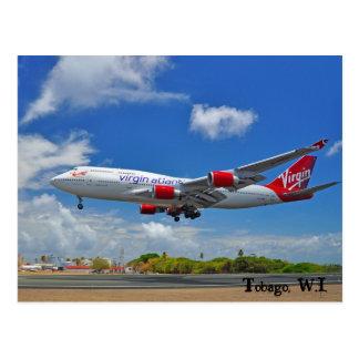 Carte Postale Atterrissage atlantique de Vierge au Tobago