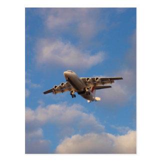 Carte Postale Atterrissage de jet d'Avro RJ85