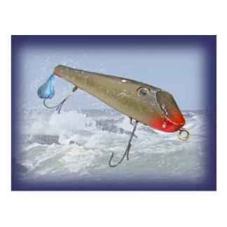 Carte Postale Attrait vintage de Fishmaster Jerry Sylvester