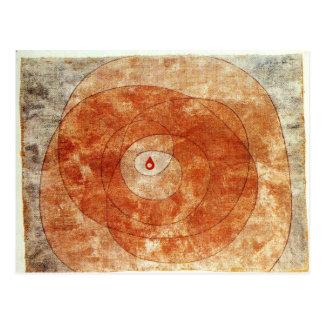 Carte Postale Au noyau par Paul Klee