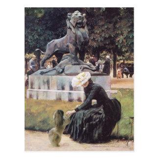 Carte Postale Au parc avec Pekingese