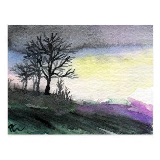 Carte Postale Aube de paysage