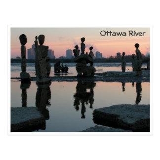 Carte Postale Aube sur la rivière d'Ottawa