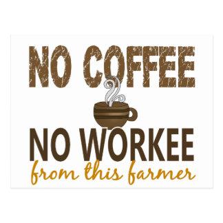 Carte Postale Aucun café aucun agriculteur de Workee