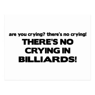 Carte Postale Aucun pleurer - billards