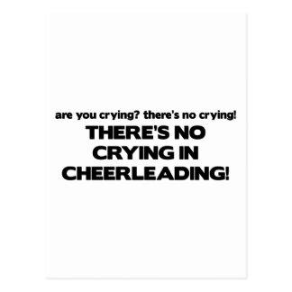 Carte Postale Aucun pleurer - Cheerleading