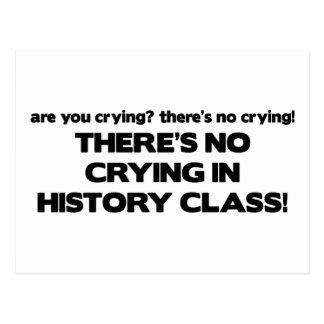 Carte Postale Aucun pleurer dans la classe d'histoire