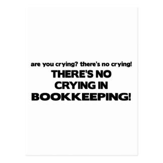 Carte Postale Aucun pleurer dans la comptabilité