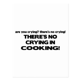Carte Postale Aucun pleurer dans la cuisine