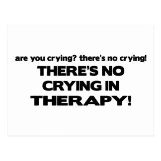 Carte Postale Aucun pleurer dans la thérapie