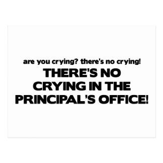Carte Postale Aucun pleurer dans le bureau du principal