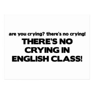 Carte Postale Aucun pleurer dans le cours d'anglais