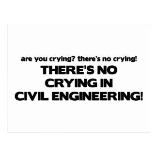 Carte Postale Aucun pleurer dans le génie civil