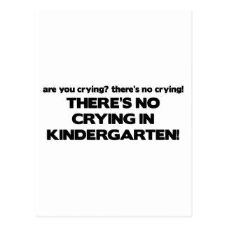 Carte Postale Aucun pleurer dans le jardin d'enfants