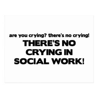 Carte Postale Aucun pleurer dans le travail social