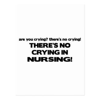 Carte Postale Aucun pleurer dans les soins