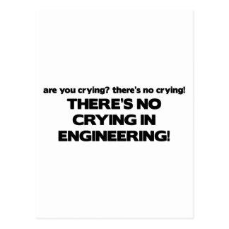 Carte Postale Aucun pleurer dans l'ingénierie