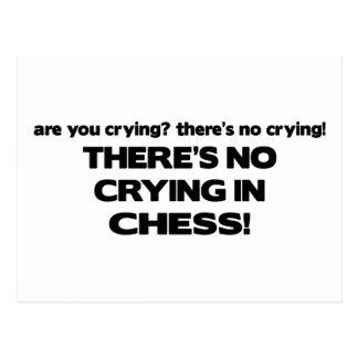 Carte Postale Aucun pleurer - échecs