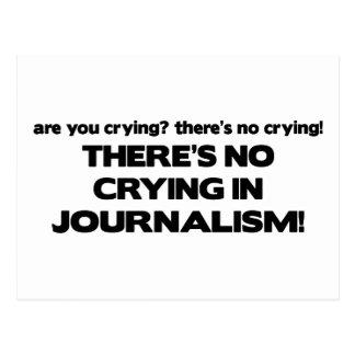 Carte Postale Aucun pleurer en journalisme