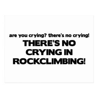 Carte Postale Aucun pleurer - escalade de roche