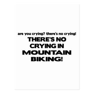 Carte Postale Aucun pleurer - faire du vélo de montagne