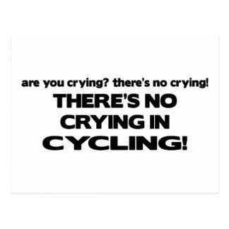 Carte Postale Aucun pleurer - faisant un cycle