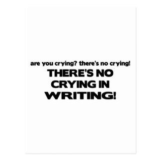 Carte Postale Aucun pleurer par écrit
