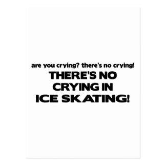 Carte Postale Aucun pleurer - patinage de glace