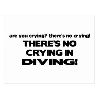 Carte Postale Aucun pleurer - plongée