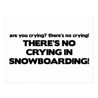 Carte Postale Aucun pleurer - snowboarding