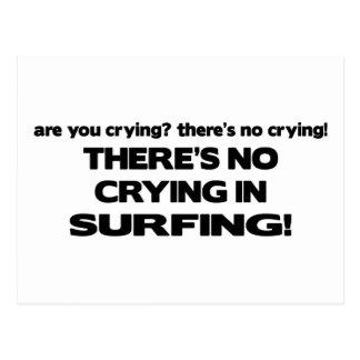 Carte Postale Aucun pleurer - surfant