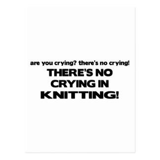Carte Postale Aucun pleurer - tricot