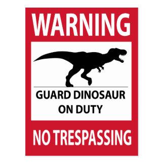 Carte Postale Aucun signe de infraction (de T-Rex)