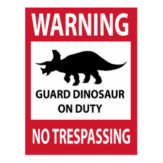 Carte Postale Aucun signe de infraction (de Triceratops)