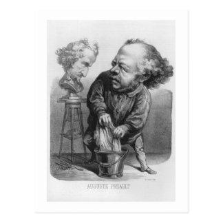 Carte Postale Auguste Preault (1809-79), caricature de 'Le Bou