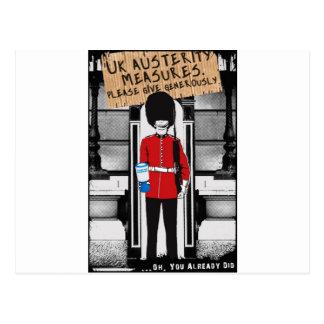 Carte Postale Austérité BRITANNIQUE. Donnez svp généreusement…