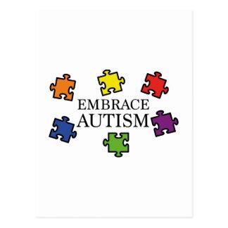 Carte Postale Autisme d'étreinte