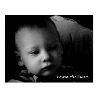Carte Postale Autisme Infantile: Matthieu (N & B)