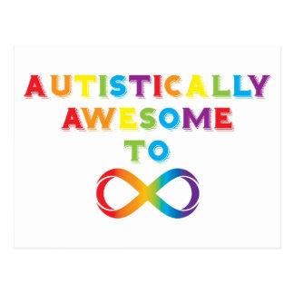 Carte Postale Autiste impressionnant à l'infini