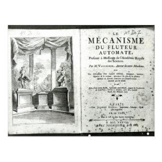 Carte Postale Automates, illustration du frontispice