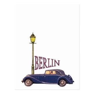 Carte Postale automobile vintage des années 1920 - Berlin