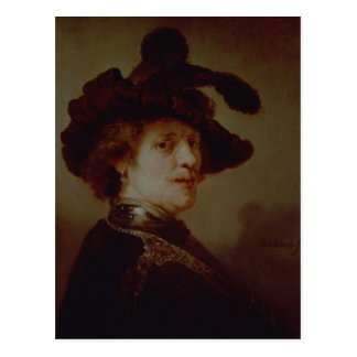 Carte Postale Autoportrait dans costumé, 1635-36