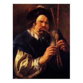 Carte Postale Autoportrait de Jacob Jordaens- en tant que joueur