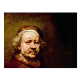 Carte Postale Autoportrait dedans à l'âge de 63, 1669