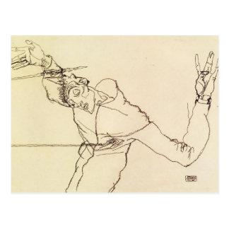 Carte Postale Autoportrait d'Egon Schiele- comme St SebastiAn