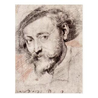 Carte Postale Autoportrait par Paul Rubens