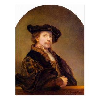 Carte Postale Autoportrait par Rembrandt Harmenszoon van Rijn