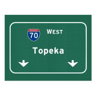 Carte Postale Autoroute d'autoroute nationale de ks de Topeka le