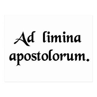 Carte Postale Aux seuils des apôtres